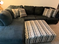 Sectional with chaise and ottoman Germantown