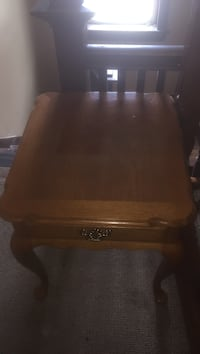 square brown wooden nightstand