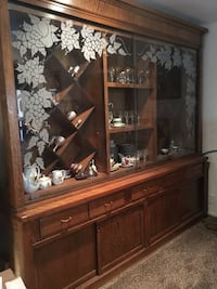 Custom Made Antique Vintage Large Wall China Cabinet. Built in the 70's and still looks brand new. $5000 OB comes in two pieces so easy to remove with the proper dolly and truck. Las Vegas, 89121