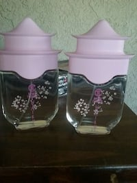 2 clear and purple perfume bottles Salinas, 93905