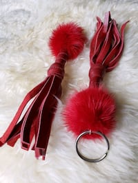 Real Fur & Leather Tassel Keychain Woodbridge, 22193