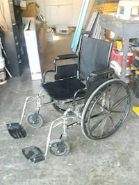 black and gray wheelchair with gray metal base Modesto, 95355