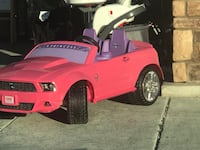 Power Wheels Mustang for kids.  Bought as gift - must reconnect steering - goes fast  Tempe, 85282