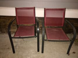 Red lawn chairs (2)