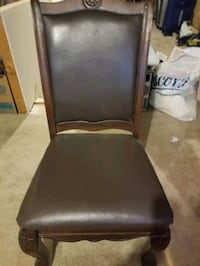 6 dinning  chairs with leather seats  Westminster, 21157