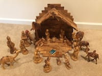 Olive wood nativity set Herndon, 20171