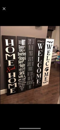 custom double sided porch signs
