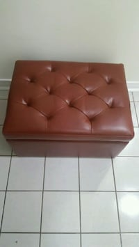 brown leather seat sofa and storage  Toronto, M6M