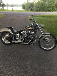 Black and grey Harley Softail  Fort Erie, L0S