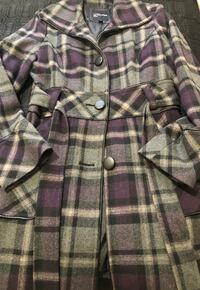 Purple and grey plaid Guess Coat South Milwaukee, 53172