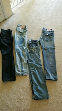 4 pair of True Religion Jeans  Fayetteville, 30215