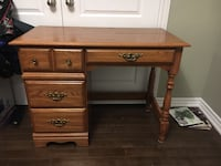 brown wooden single pedestal desk Toronto, M6B
