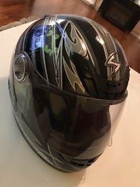black and white full-face helmet Sterling, 20165
