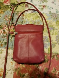 women's red leather sling bag Falling Waters, 25419