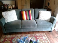 gray suede 3-seat sofa Allentown, 18109