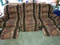 brown and red floral fabric sofa Edgewater, 21037