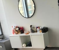 White wooden cabinet / mirror available for sale Montreal, H3A 1H3