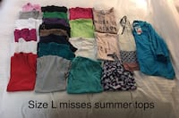 Misses size large summer tops