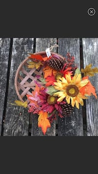 Fall Basket Wreath Falls Church, 22046