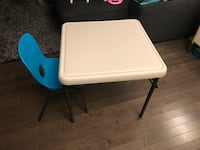Kids table and chair Edmonton, T5X 0K3