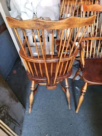 Mid century wooden chairs 5 available  Los Angeles, 91343