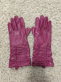 Pink leather gloves  Langley, BC, Canada