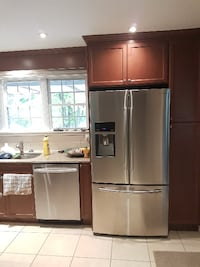 Solid wood kitchen cabinets with granite countertops Ottawa