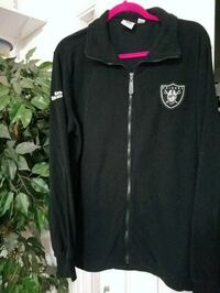 Raiders black zip-up fleece 250 mi