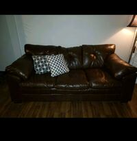 Set of 2 brown couches