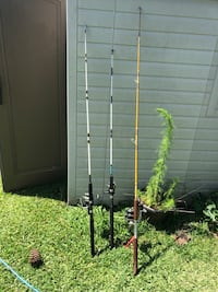 black and gray fishing rod South Mills, 27976