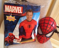 ADULT SPIDER-MAN MUSCLE SHIRT COSTUME + Light up Mask Hamilton, ON L8E 3X9, Canada