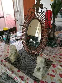 HALLWAY TABLE MIRROR AND 2 HEAVY PEGUSAS STATUES Claymont, 19703