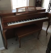 Brown and white upright piano Stafford, 22554