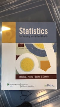 Statistics for Nursing and Allied Health Mississauga, L5W 1H2