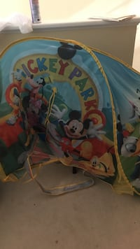 blue, white, and yellow Mickey Mouse Club House themed tent Leesburg, 20176