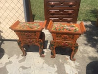 Two brown wooden side tables Universal City, 78148
