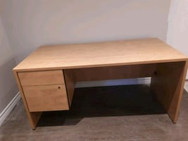 desk with two drawers with lock