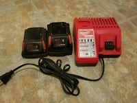 Milwaukee batteries and charger Winnipeg, R2L 1G9