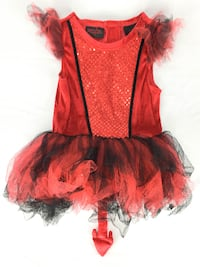 Halloween Red Dress Girls Size 3T MONTREAL