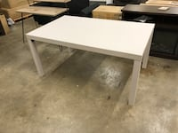 """LITE GREY RECTANGULAR DINING TABLE, 59""""Wx35.5""""Dx28""""H, NEW   Florence"""