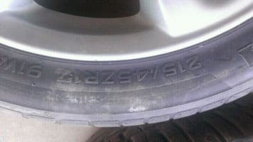 Honda car tire  [TL_HIDDEN] W