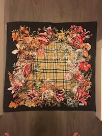 Authentic Burberry silk scarf  Burnaby, V5C 4C4