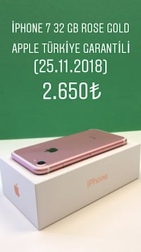 iPhone 7 32 GB ROSE GOLD İlkadım, 55060
