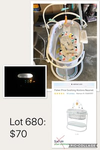 BRAND NEW baby bassinet with lights, sound and vibration