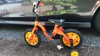 toddler's red and white bicycle Langley, V1M