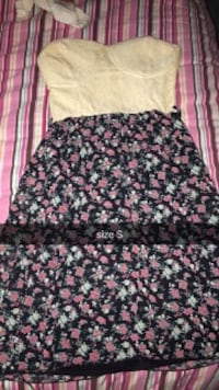 black and pink floral skirt Luttrell, 37779