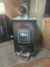 Wood furnace w 2 duct hook up 2 blower motorf.lter Commiskey, 47227