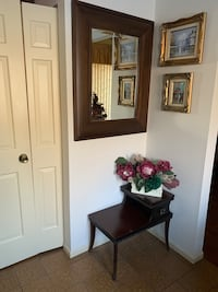 Mirror with side table