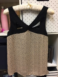 women's black and gray polka-dot sleeveless blouse Oklahoma City, 73121