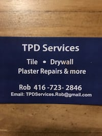 Tiles drywall taping plaster etc...